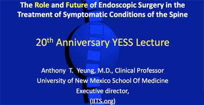 20th Anniversary YESS Lecture