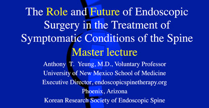 he Role and Future of Endoscopic Spine Surgery